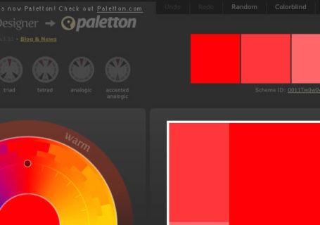 Palettes de nuancier en ligne – Générateurs de couleurs