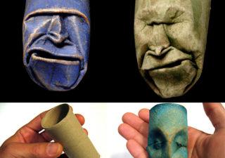 Sculpture de rouleau de papier toilette 1