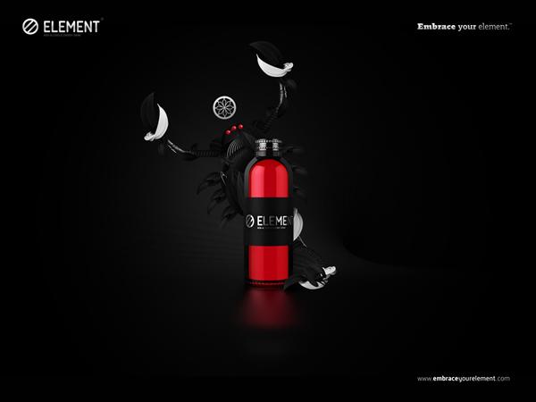 Element Energy Drink feu