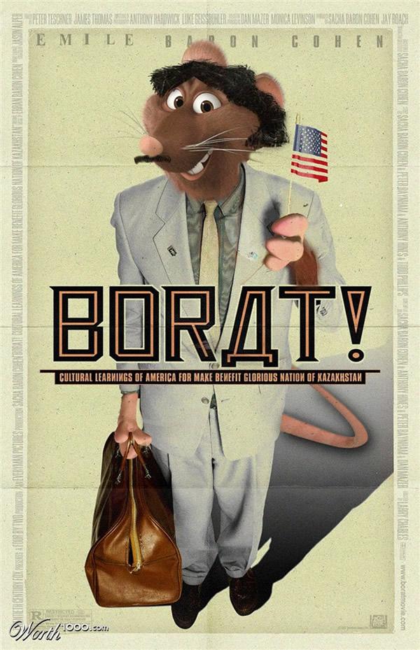 80 affiches de films d'animations détournées 69