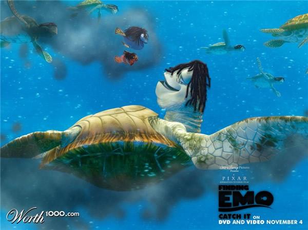 80 affiches de films d'animations détournées 55