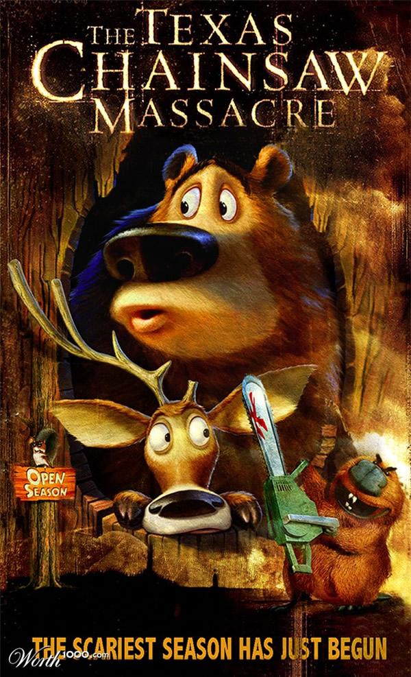 80 affiches de films d'animations détournées 14