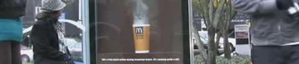 Street Marketing McDonald's : Your cafe is ready 2