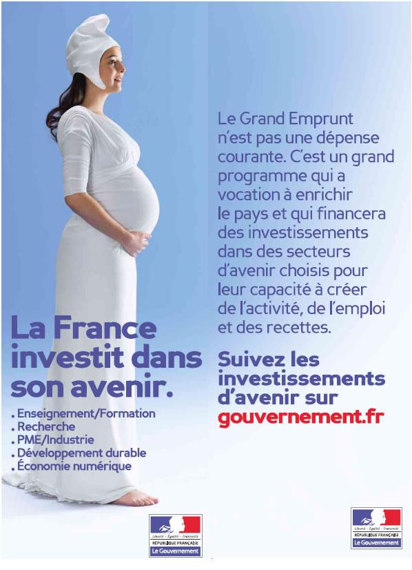 La France investit dans son avenir avec la schtroumpfette 1