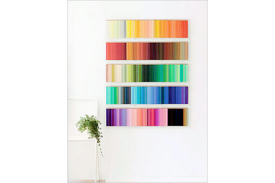 Créer votre mur de crayons de couleurs 5