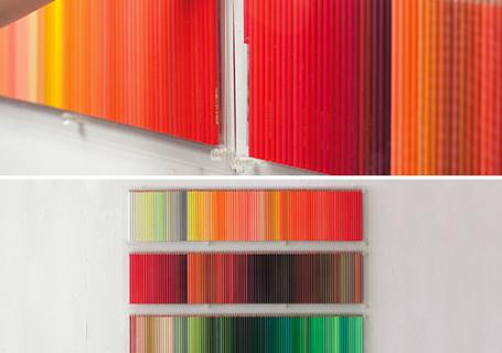 Créer votre mur de crayons de couleurs 2