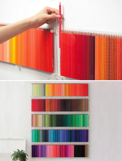 Créer votre mur de crayons de couleurs 3
