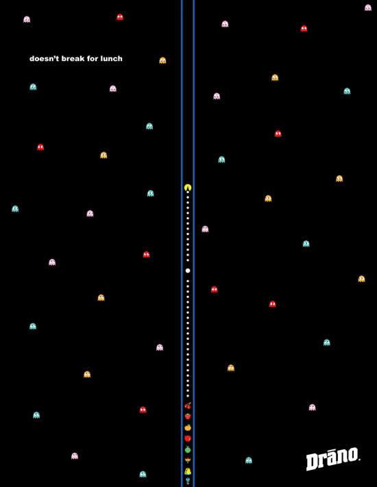 20 Publicités qui utilisent PacMan 6