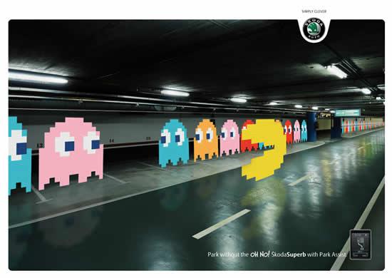 20 Publicités qui utilisent PacMan 3