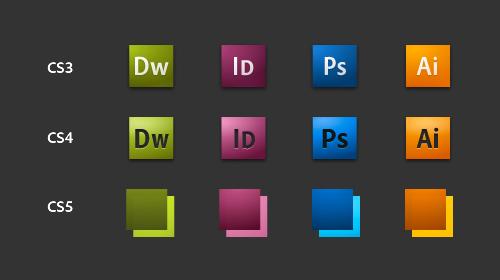les nouvelles icônes adobe CS5 2