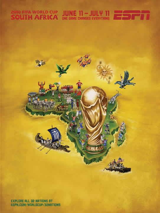 Les affiches ESPN pour la coupe du monde 2010 32