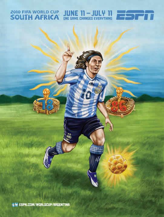 Les affiches ESPN pour la coupe du monde 2010 30