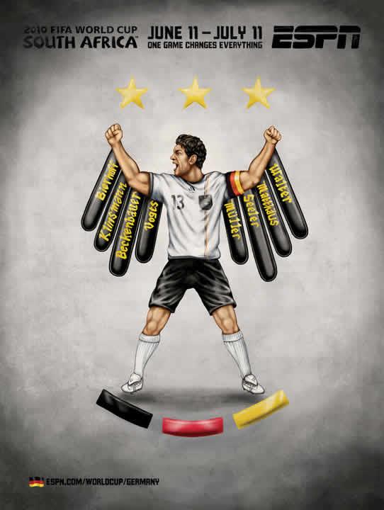 Les affiches ESPN pour la coupe du monde 2010 22