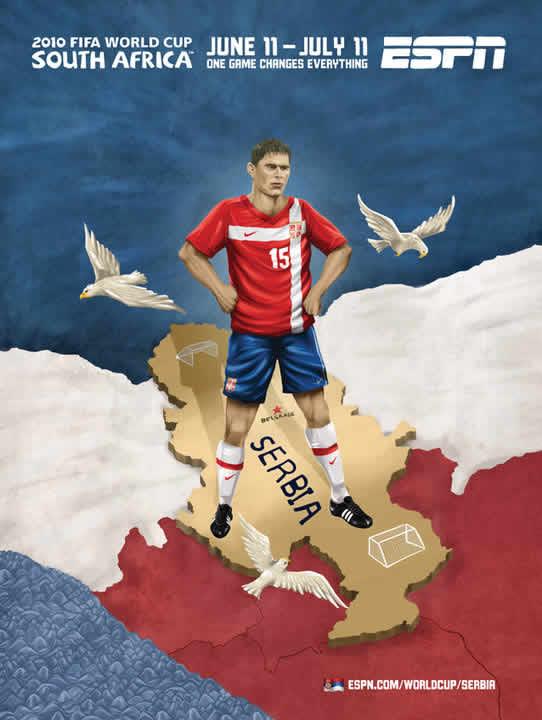 Les affiches ESPN pour la coupe du monde 2010 8