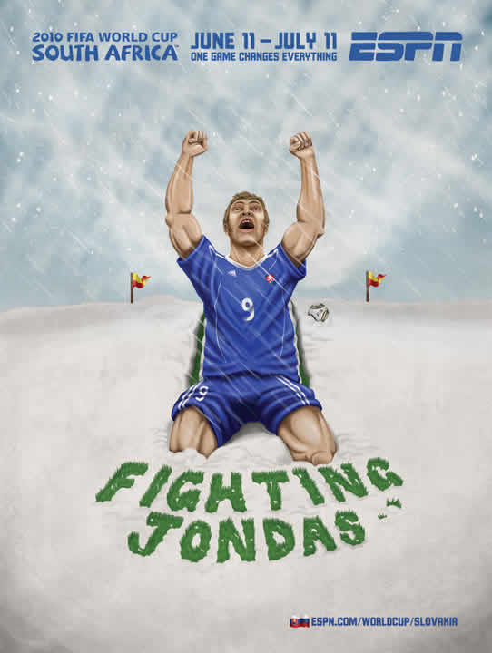Les affiches ESPN pour la coupe du monde 2010 7