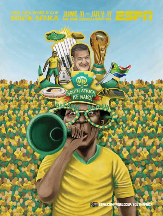 Les affiches ESPN pour la coupe du monde 2010 5