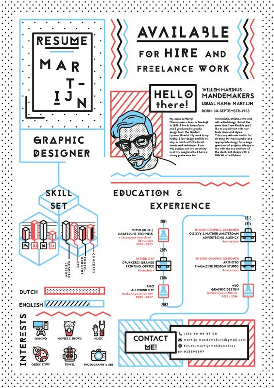 22 idées de CV créatifs 22