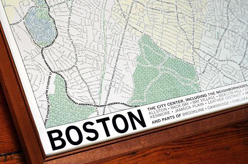 Les cartes de villes en typographie #boston #chicago 5