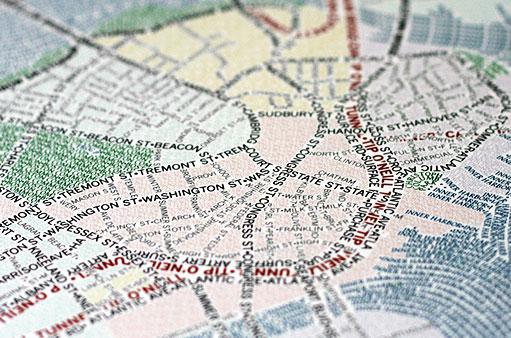 Les cartes de villes en typographie #boston #chicago 4
