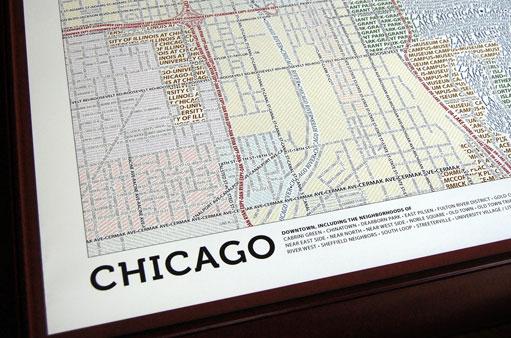 Les cartes de villes en typographie #boston #chicago 3