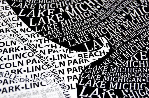Les cartes de villes en typographie #boston #chicago 1