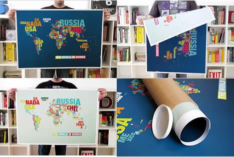 The world in words - Typomap du monde en typographie 3