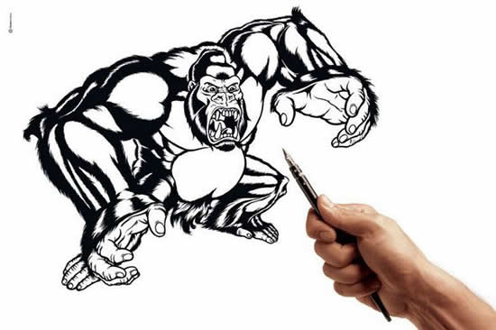 43+ superbes dessins avec illusions 3D - Edgar Müller, J.Beever, Fredo 20