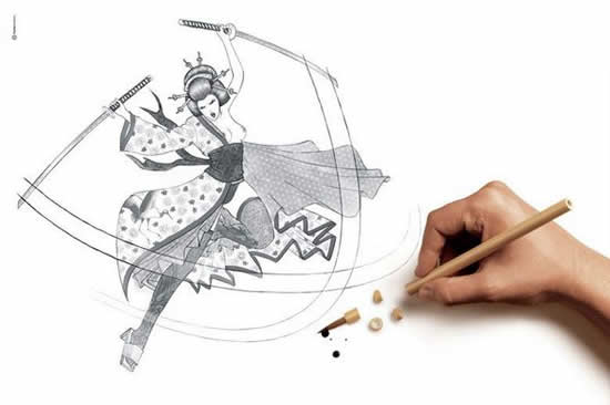 43+ superbes dessins avec illusions 3D - Edgar Müller, J.Beever, Fredo 18