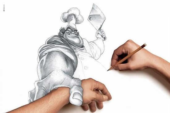 43+ superbes dessins avec illusions 3D - Edgar Müller, J.Beever, Fredo 41