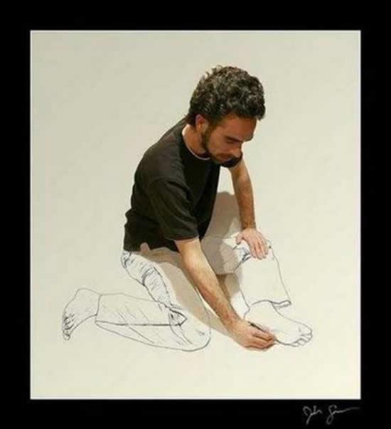 43+ superbes dessins avec illusions 3D - Edgar Müller, J.Beever, Fredo 38