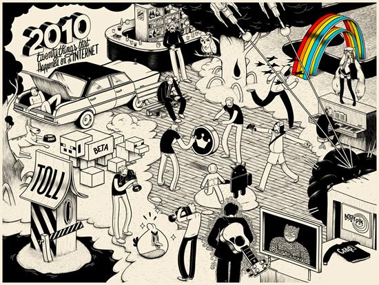 20 choses qui sont arrivés sur internet en 2010 illustré par MCBESS #20things 2