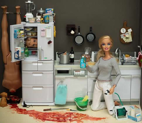 Les scènes de crimes de Barbie style Dexter 5