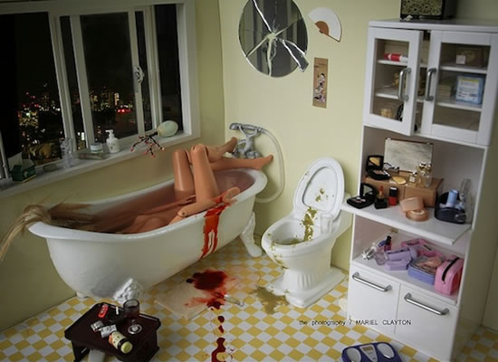 Les scènes de crimes de Barbie style Dexter 8