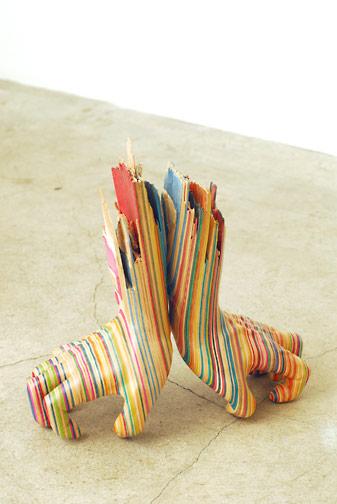 Sculptures de Haroshi avec des skateboards 16