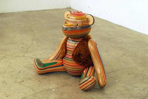 Sculptures de Haroshi avec des skateboards 5