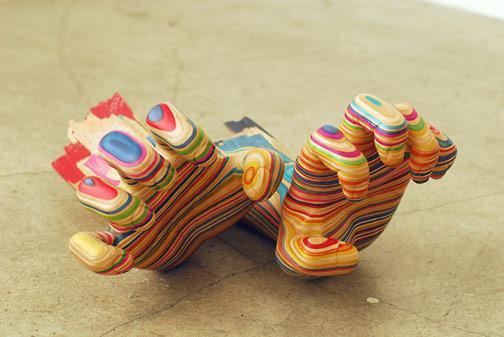 Sculptures de Haroshi avec des skateboards 19