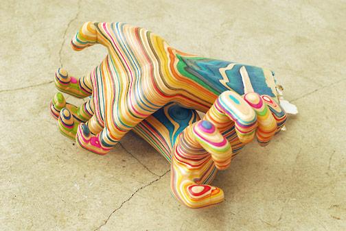 Sculptures de Haroshi avec des skateboards 17