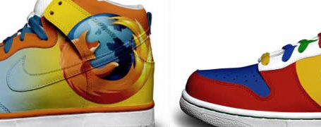 Nike Sneakers aux couleurs de Twitter, Google et Firefox 11