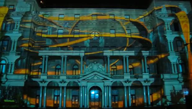 Hot Wheels se met à projeter en 3D sur un immeuble