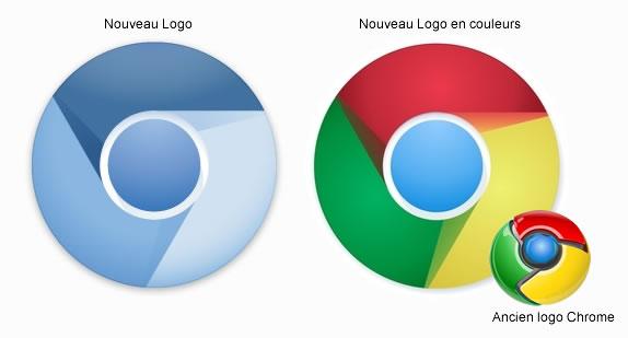 nouveau logo chrome bleu