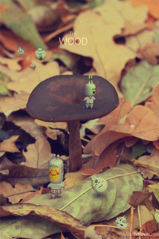The Wood - petits persos 3D dans la nature 3