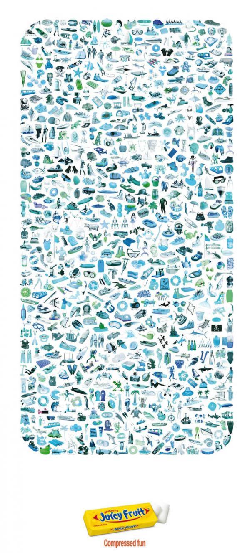 90 publicités pour du Chewing-gum 36