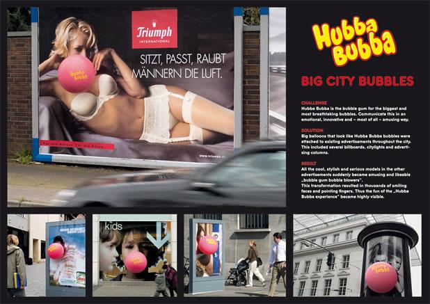 90 publicités pour du Chewing-gum 45