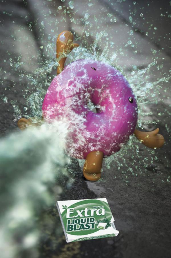 90 publicités pour du Chewing-gum 50