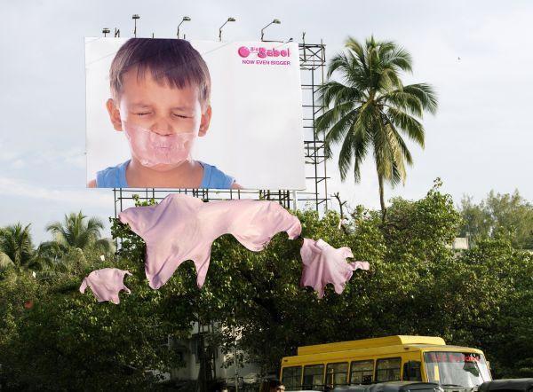 90 publicités pour du Chewing-gum 69