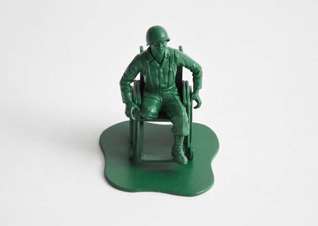 """Les jouets """"petits soldats"""" après des années de guerre 4"""