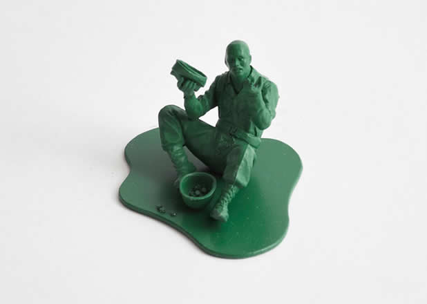 """Les jouets """"petits soldats"""" après des années de guerre 6"""