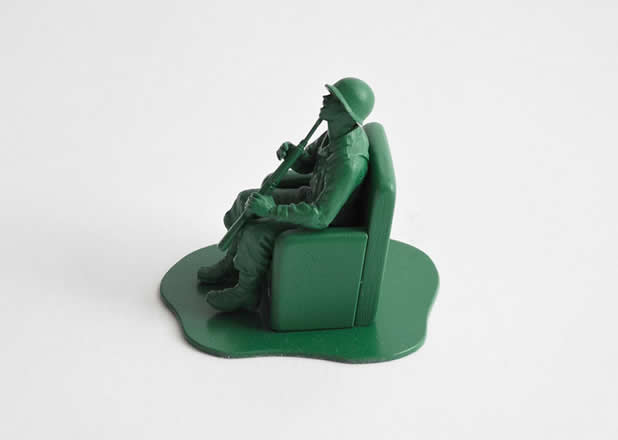 """Les jouets """"petits soldats"""" après des années de guerre 7"""