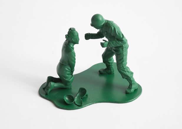 """Les jouets """"petits soldats"""" après des années de guerre 9"""