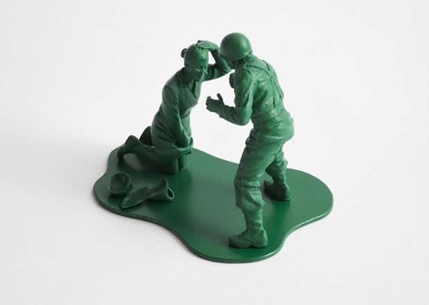 """Les jouets """"petits soldats"""" après des années de guerre 10"""